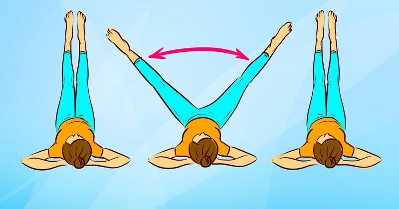 Упражнение «Футпако». Девочки, срочно ложитесь на пол и готовьте стройные ножки к лету!