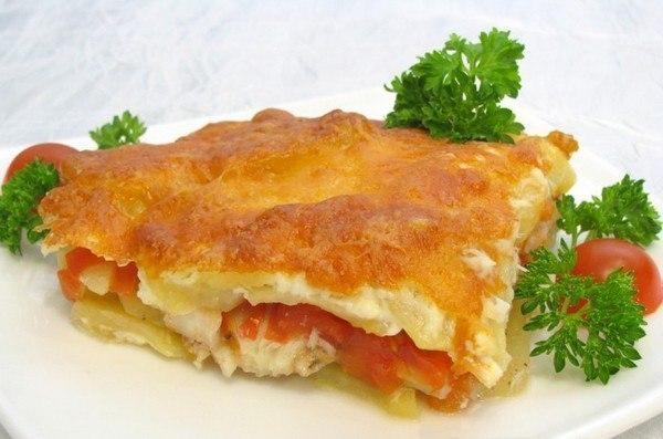 Запеканка с картофелем и рыбкой