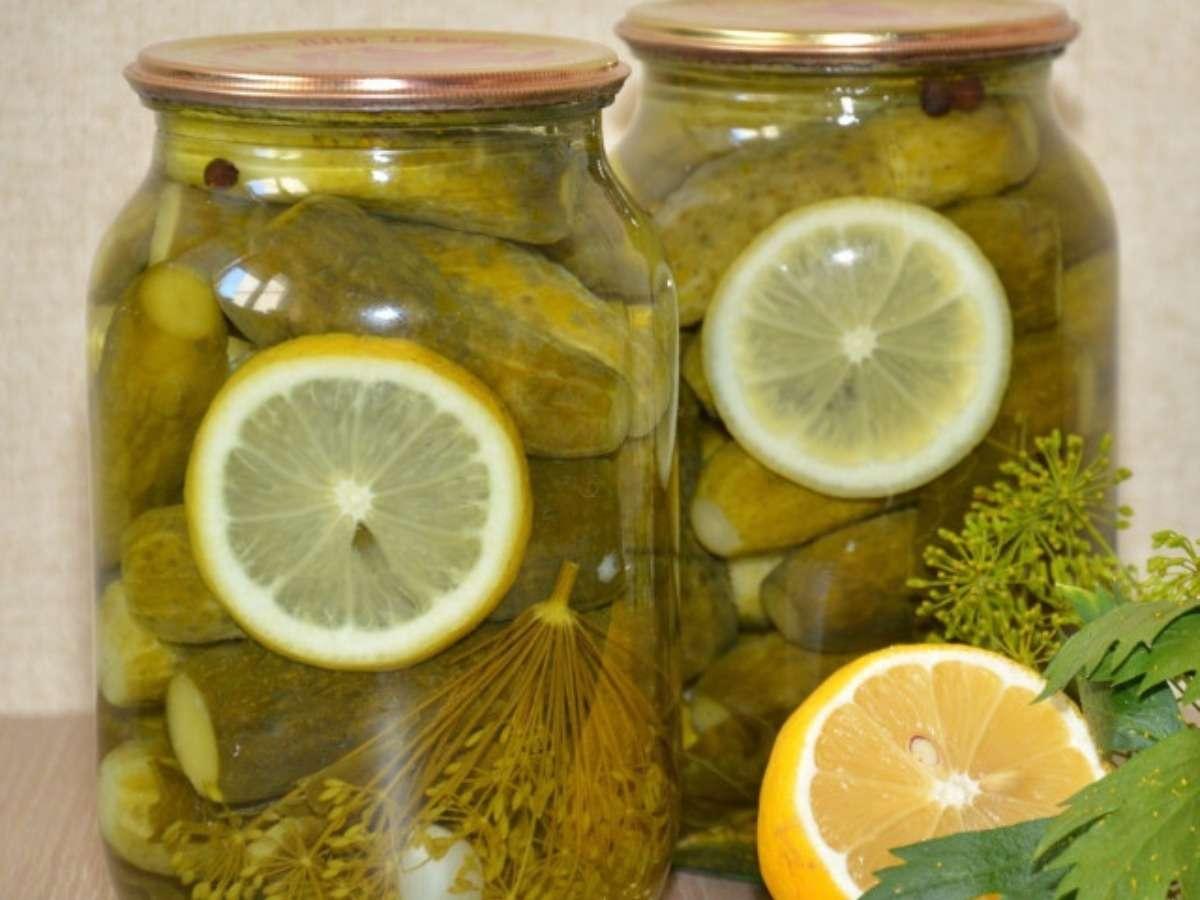 Огурцы на зиму «Пражские» с лимоном