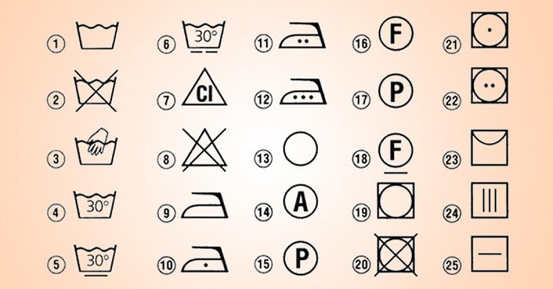 Расшифровка символов на ярлыках одежды: немедленно распечатали. Очень полезная шпаргалка.