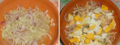 Салат «Чиполлино» ем и не плачу, смеюсь — две копейки на продукты, две минуты на готовку. Витаминный, ароматный — одни плюсы.