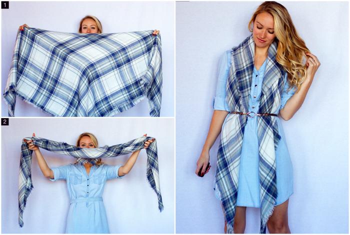 Наглядные фотоинструкции, как красиво завязать шарф, платок и палантин (17 фото)