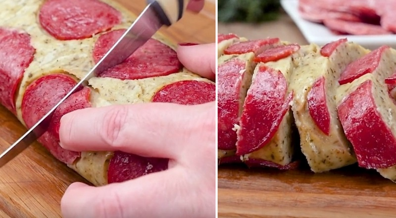 Варю картофель, нарезаю салями, а затем плотно сворачиваю… На 20 минут в духовку! Необычная подача и отменный вкус.