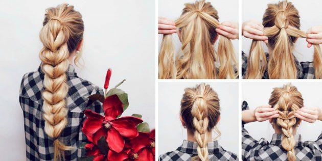 15 причёсок, которые любая девушка сделает за 5 минут